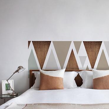 Autocollant tête de lit pour chambre