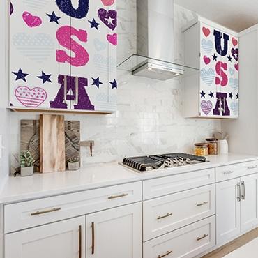 Sticker USA dans cuisine