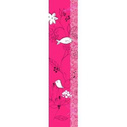 Sticker mural Fleur stylisée Framboise et Blanc !