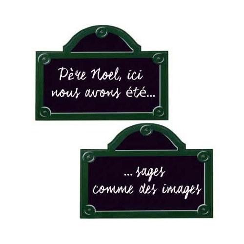 une sticker autocollant plaque de rue de Paris ardoise adhésive.