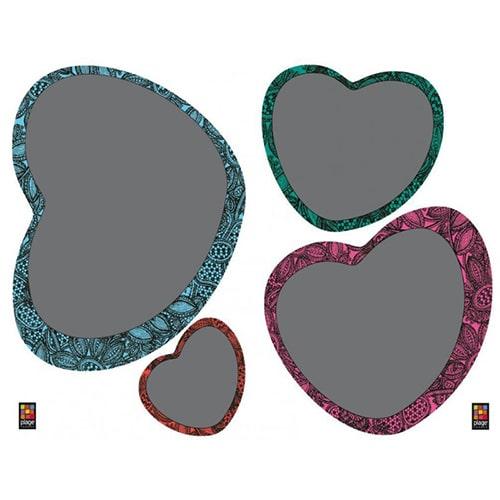 Stickers autocollants tableau noir en forme de coeur
