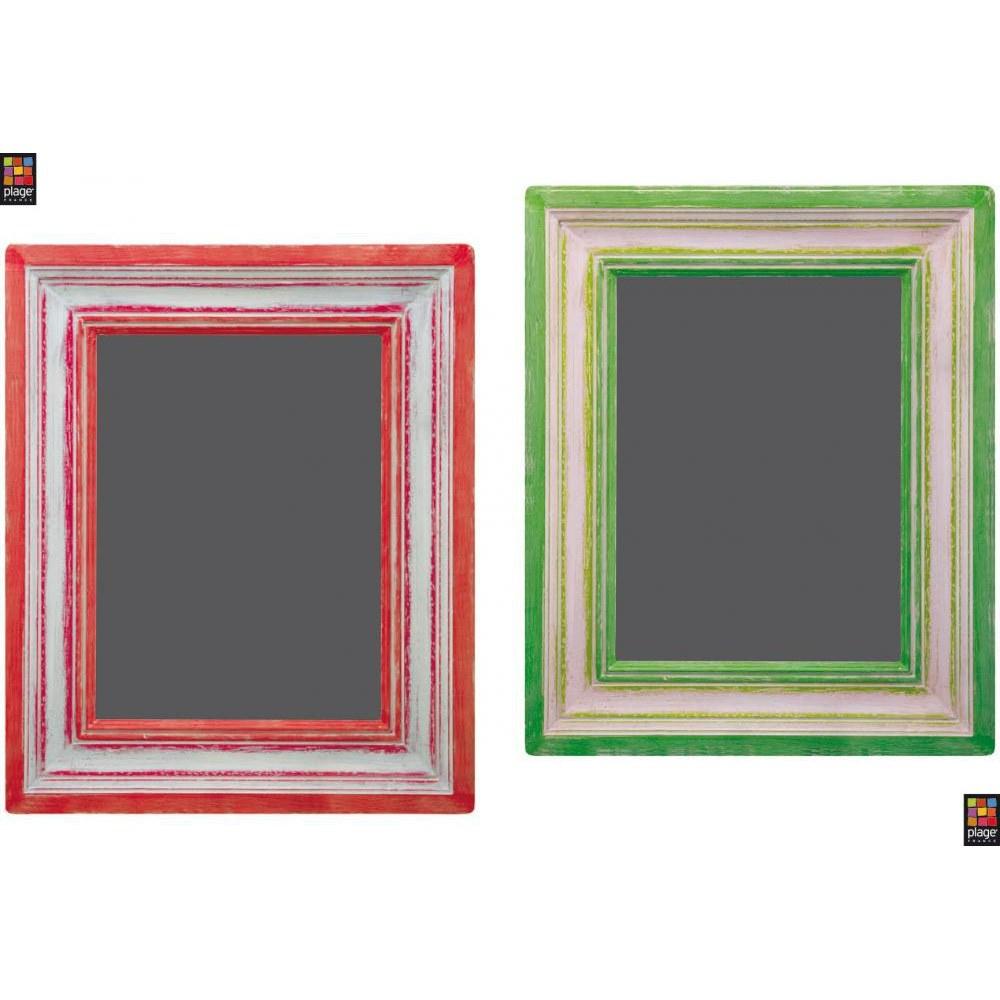Ardoises adhésives déco cadres rouge et vertt style tableau à craies