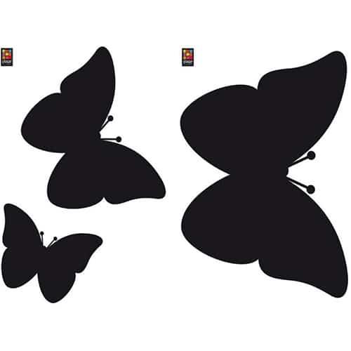 Sticker adhésif ardoise tableau noir Papillons !