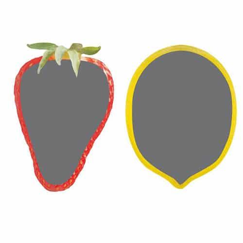 Sticker ardoise tableau noir Fraises et Citrons pour mur