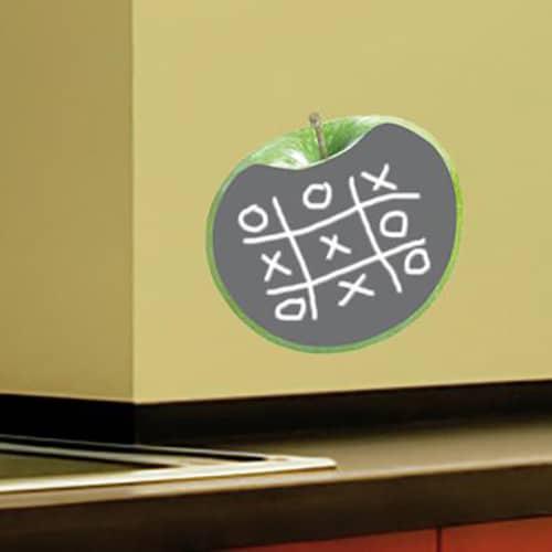 Sticker ardoise tableau noir Pommes