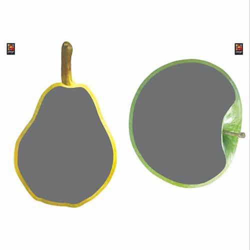 Sticker autocollant ardoise tableau noir Poires et Pommes