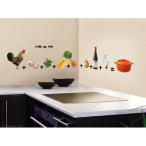 Frise murale sticker coq au vin