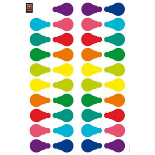Stickers muraux Ampoules multicolores