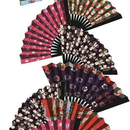 Stickers Muraux éventails Asie Zen