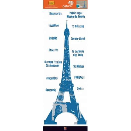 Autocollants Tour Eiffel avec les lieux connues