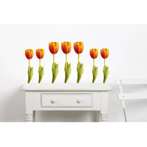 Sticker de fleur Tulipes Orange