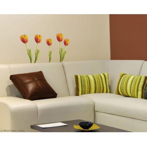 Sticker de fleur Tulipes Orange