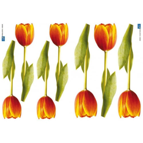 Sticker de fleur de Tulipes Orange