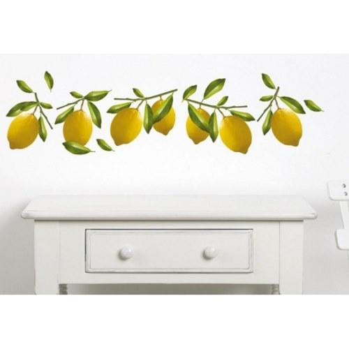 Sticker adhésif citron pour cuisine