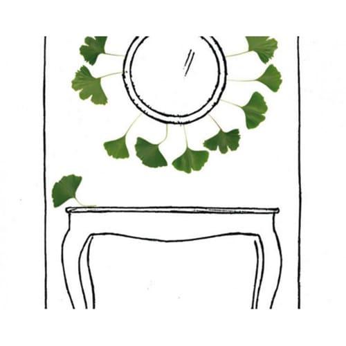 Sticker ecrin de feuilles de Ginkgo