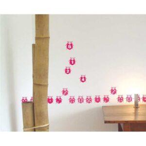 Frise Stickers muraux Coccinelles roses pour enfants