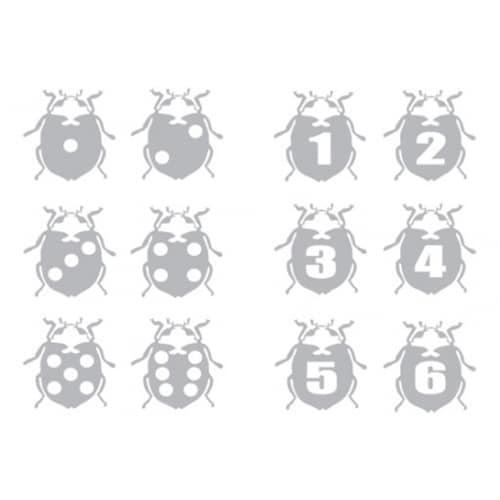 Stickers muraux coccinelles grises pour enfants