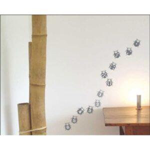 Frise Stickers muraux coccinelles grises pour enfant