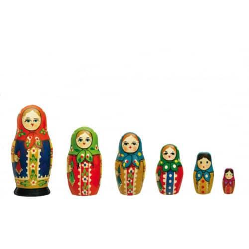 stickers poupées russes de la plus grande à la plus petite