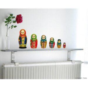 Autocollant mural poupées russes