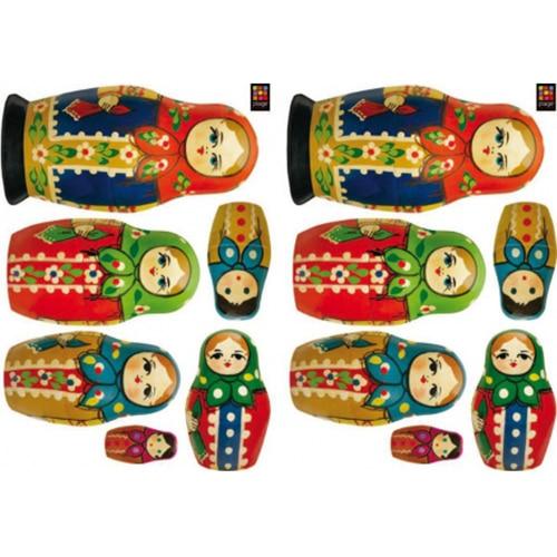 Stickers muraux poupées russes