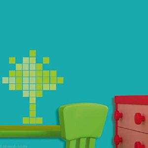 Sticker Pixels Verts dans une chambre enfant