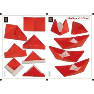 sticker autocollant Origami - Bateau Chapeau en Pliage
