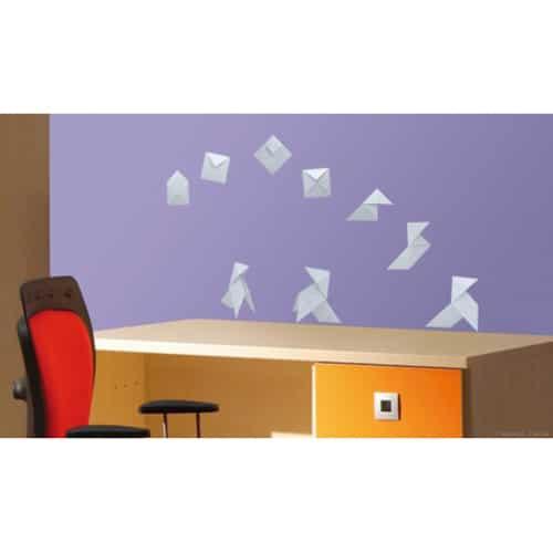 Sticker autocollant Origami