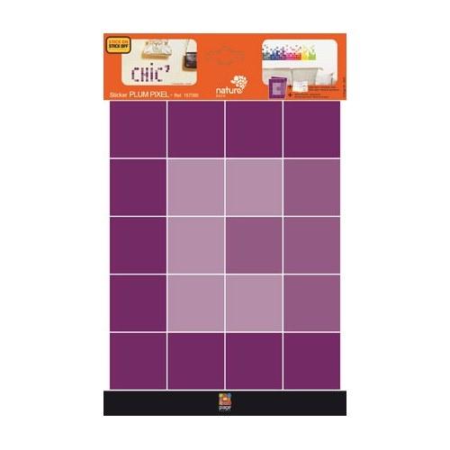 Planche de sticker Pixels Violets