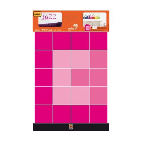 Planche de sticker Pixels Roses