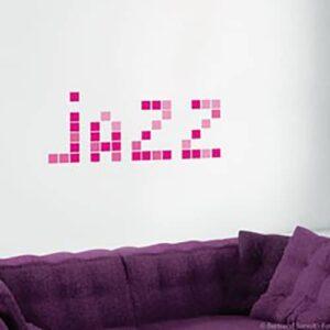 Sticker Pixels Roses avec le mot JAZZ