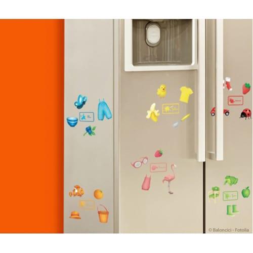 Stickers autocollants couleurs Français/Anglais