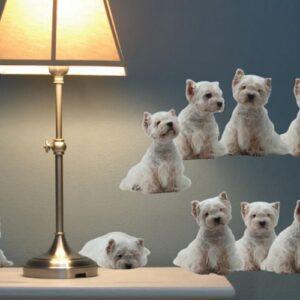 Sticker adhésif frise chiens