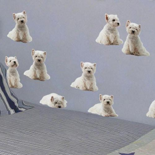 Frise murale adhésive, stickers chiens