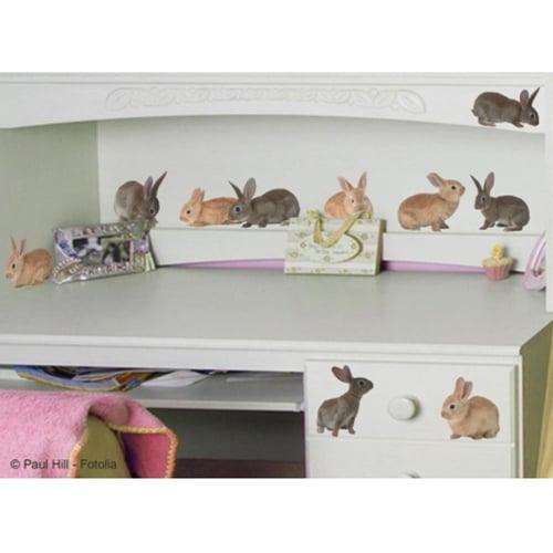 Stickers autocollant de Petits Lapins dans une chambre d'enfant