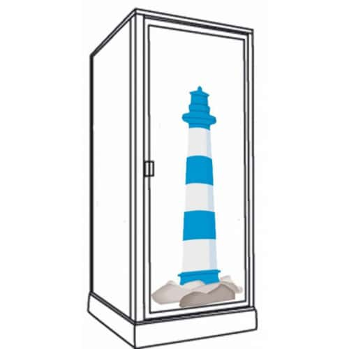 Sticker adhésif Phare Marin pour paroi de douche