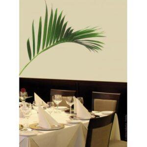 Sticker feuille de palmier pour déco salle à manger
