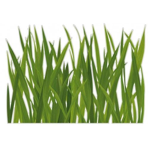 Sticker fausses herbes vertes pour déco maison