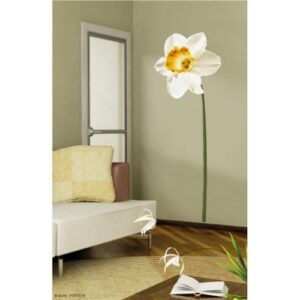 Sticker fleur Grand Narcisse à mettre au mur
