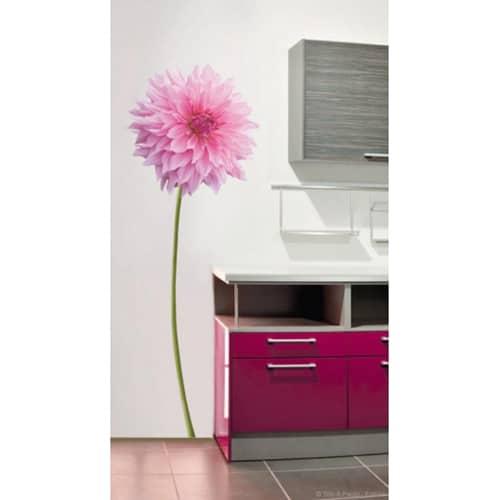 Sticker Dahlia Rose pour décoration mur de cuisine