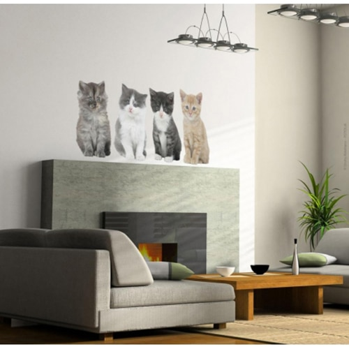 stickers autocollants 4 chats d coration int rieure animaux domestiques. Black Bedroom Furniture Sets. Home Design Ideas
