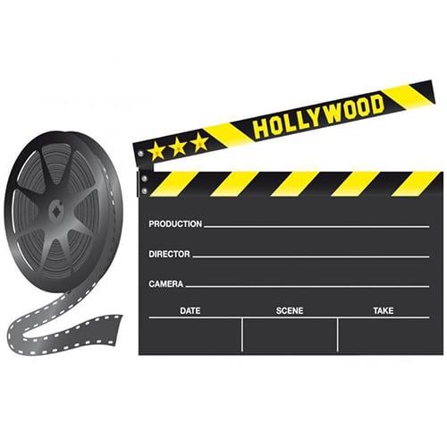 Sticker couleur ardoise tableau noir Clap de cinéma !