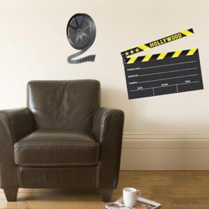 Sticker autocollant ardoise tableau noir clap de cinéma