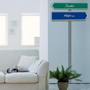 Stickers Panneau de direction en kit Dodo métro mis dans un salon