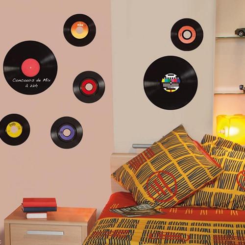 Adhésif rétro de disques vinyles vintage