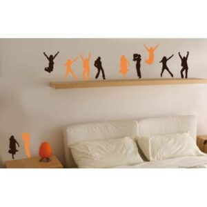 Frise murale adhésive, stickers Pas de danse
