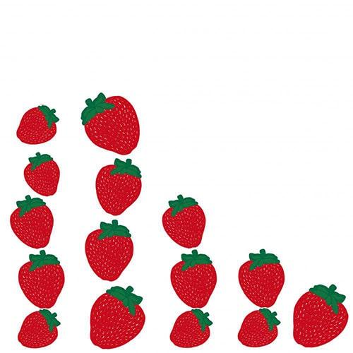Sticker adhésif pour éléctroménager Barquette de Fraises rouges !
