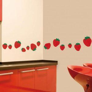 Stickers muraux fraises pour cuisine