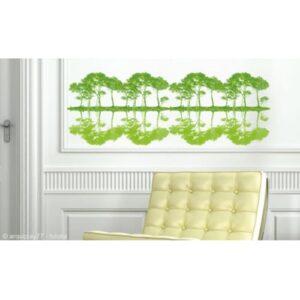 Sticker Arbres Verts Reflétés autocollants collés sur le mur