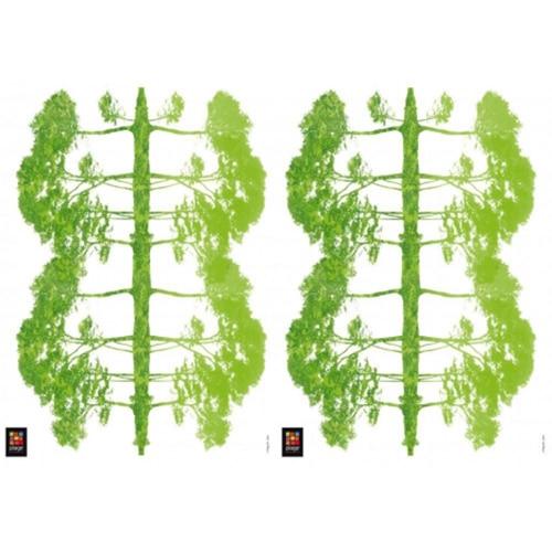 Ensemble de Sticker muraux Arbres Verts Reflétés